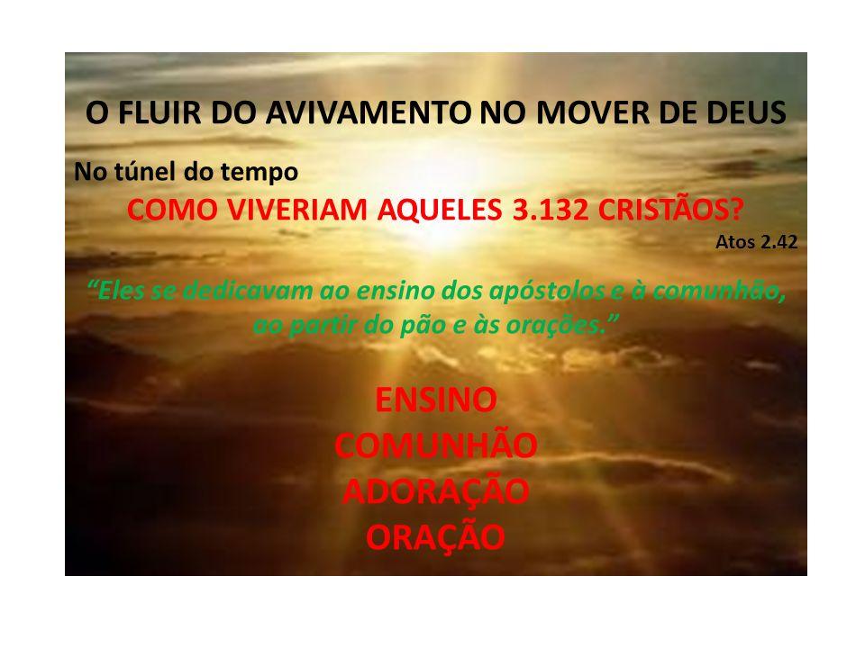 O FLUIR DO AVIVAMENTO NO MOVER DE DEUS No túnel do tempo COMO VIVERIAM AQUELES 3.132 CRISTÃOS.