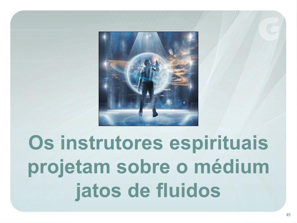 49 Os instrutores espirituais projetam sobre o médium jatos de fluidos