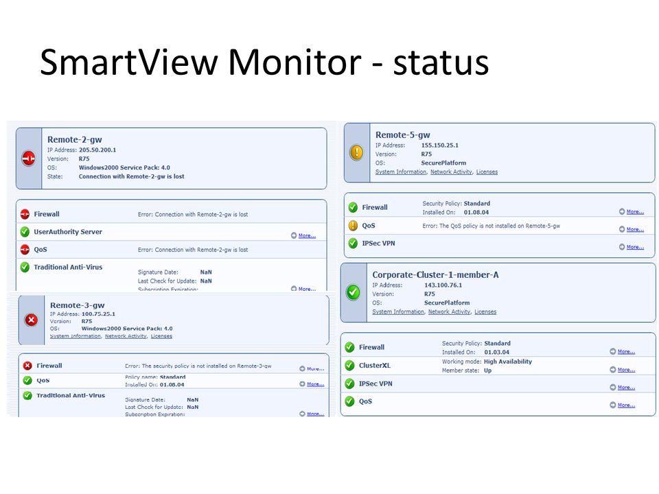 SmartView Monitor - status