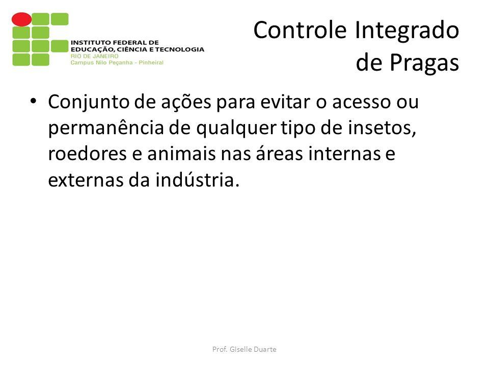 Controle Integrado de Pragas Prof. Giselle Duarte Conjunto de ações para evitar o acesso ou permanência de qualquer tipo de insetos, roedores e animai