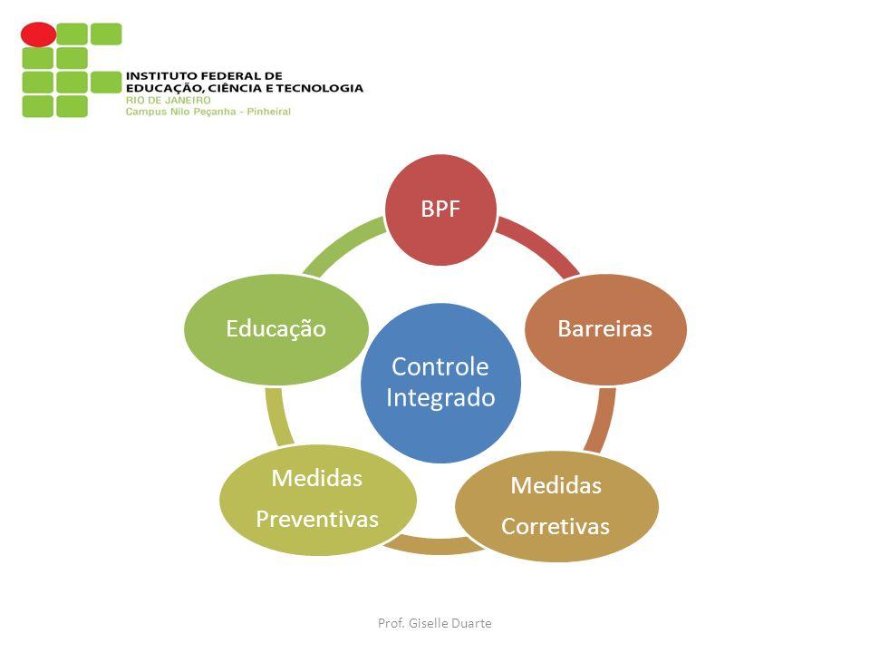 Controle Integrado BPFBarreiras Medidas Corretivas Medidas Preventivas Educação Prof. Giselle Duarte