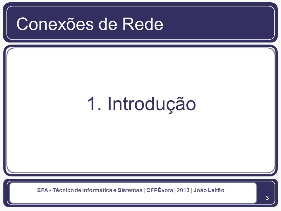 4 EFA - Técnico de Informática e Sistemas | CFPÉvora | 2013 | João Leitão 1.