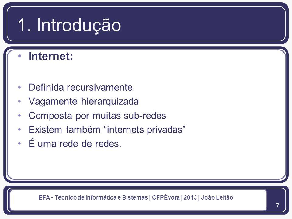 8 EFA - Técnico de Informática e Sistemas | CFPÉvora | 2013 | João Leitão 1.
