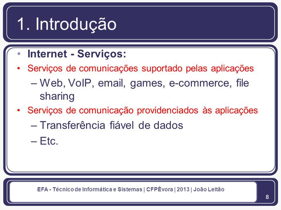 9 EFA - Técnico de Informática e Sistemas | CFPÉvora | 2013 | João Leitão 1.