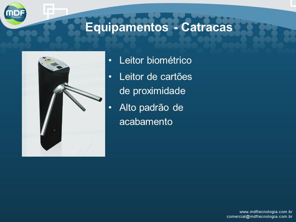 Equipamentos - Catracas Leitor biométrico Leitor de cartões de proximidade Alto padrão de acabamento