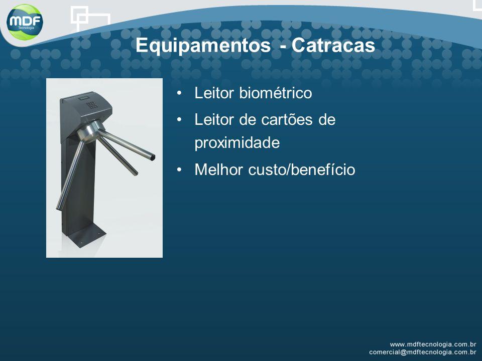 Equipamentos - Catracas Leitor biométrico Leitor de cartões de proximidade Melhor custo/benefício
