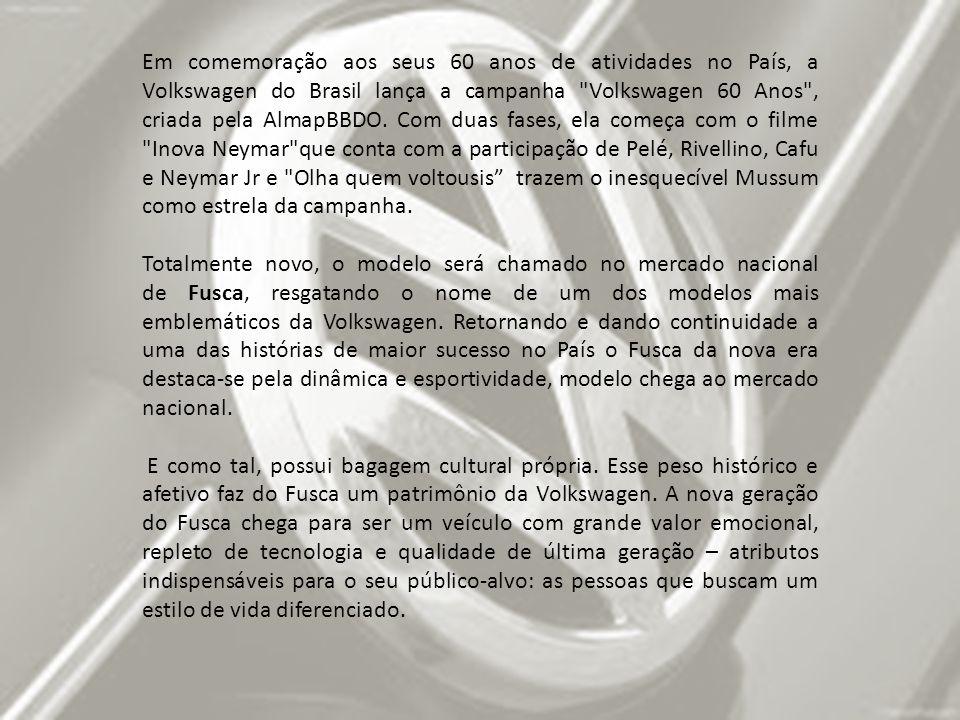 Em comemoração aos seus 60 anos de atividades no País, a Volkswagen do Brasil lança a campanha