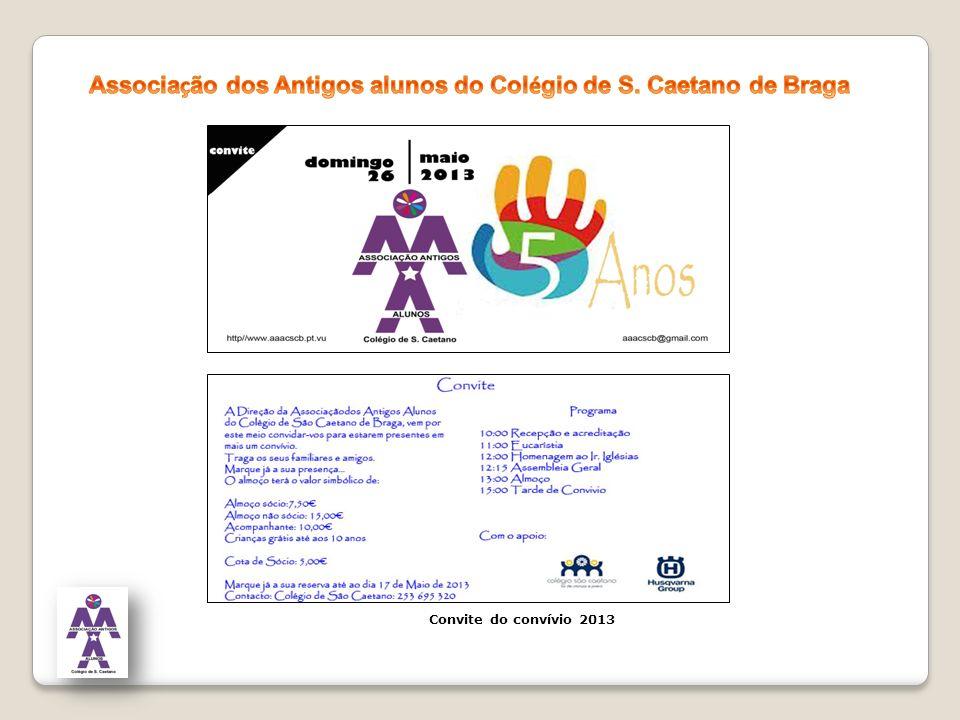 Convite do convívio 2013
