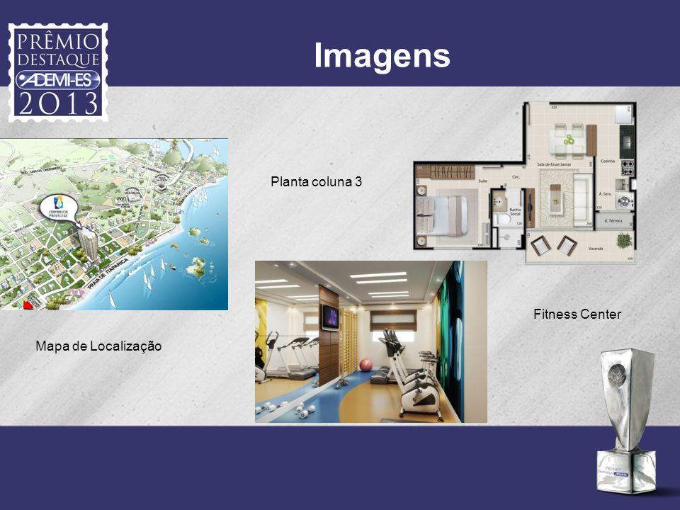 Imagens Fitness Center Planta coluna 3 Mapa de Localização