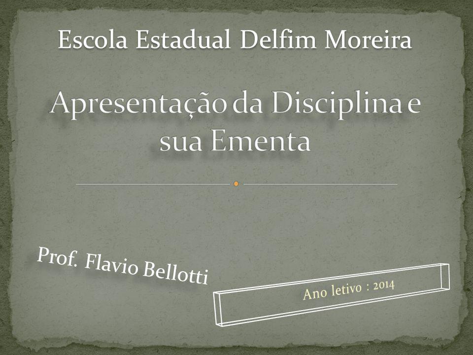 Escola Estadual Delfim Moreira Prof. Flavio Bellotti