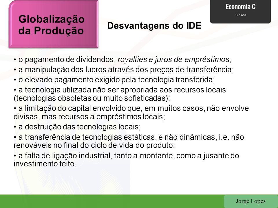 Jorge Lopes Definição de PME Definição de PME: Recomendação 2003/361/CE Globalização da Produção
