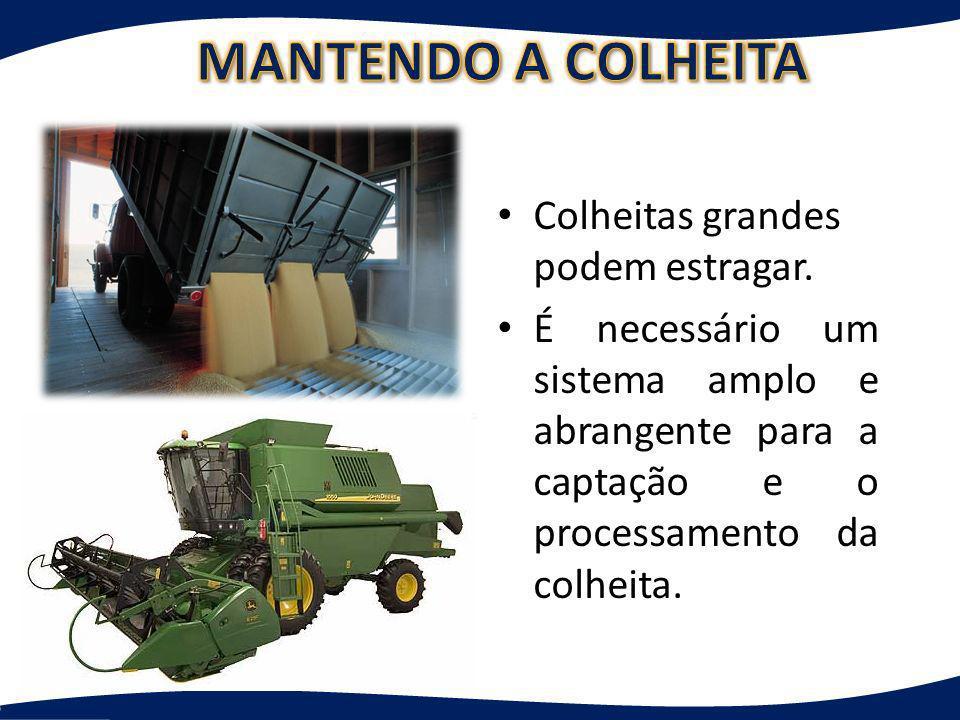 Colheitas grandes podem estragar. É necessário um sistema amplo e abrangente para a captação e o processamento da colheita.