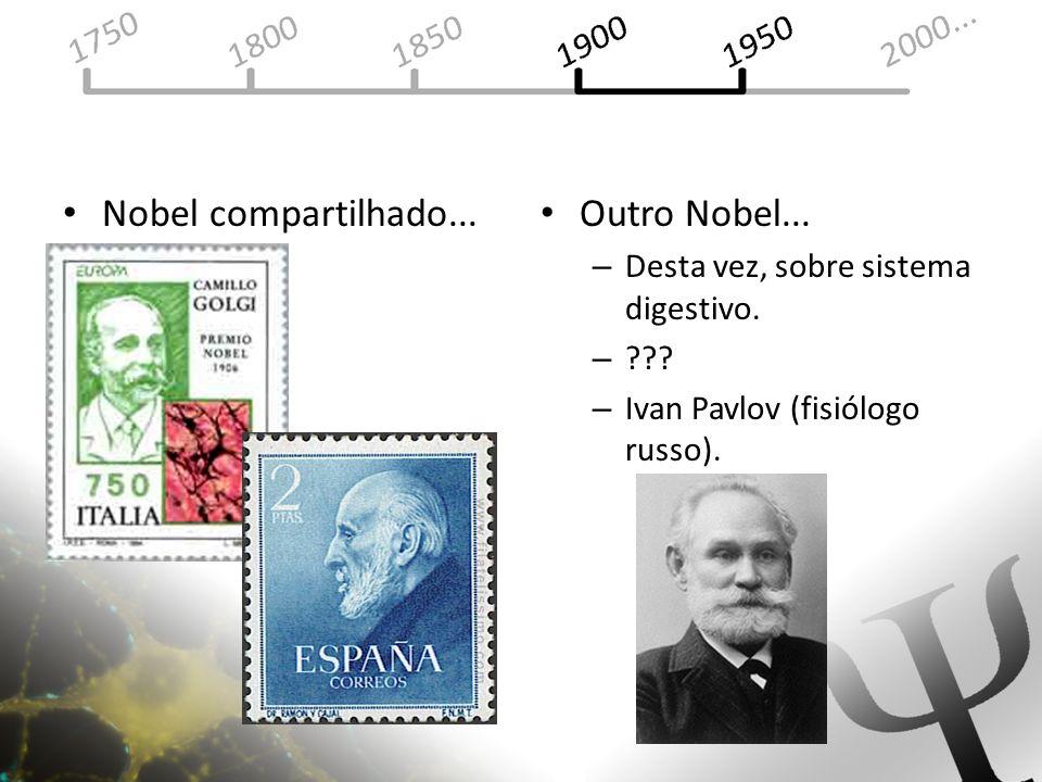 Nobel compartilhado... Outro Nobel... –D–Desta vez, sobre sistema digestivo. –?–??? –I–Ivan Pavlov (fisiólogo russo).