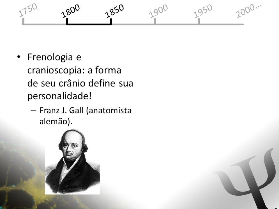 Frenologia e cranioscopia: a forma de seu crânio define sua personalidade! – Franz J. Gall (anatomista alemão).