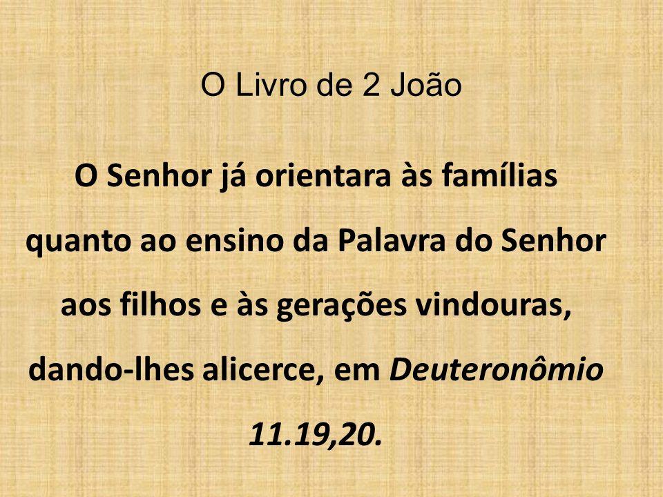 O Livro de 3 João Em nossa vida, na Casa do Senhor, devemos evitar o exemplo de DIÓTREFES e, seguir os exemplos de GAIO e de DEMÉTRIO.
