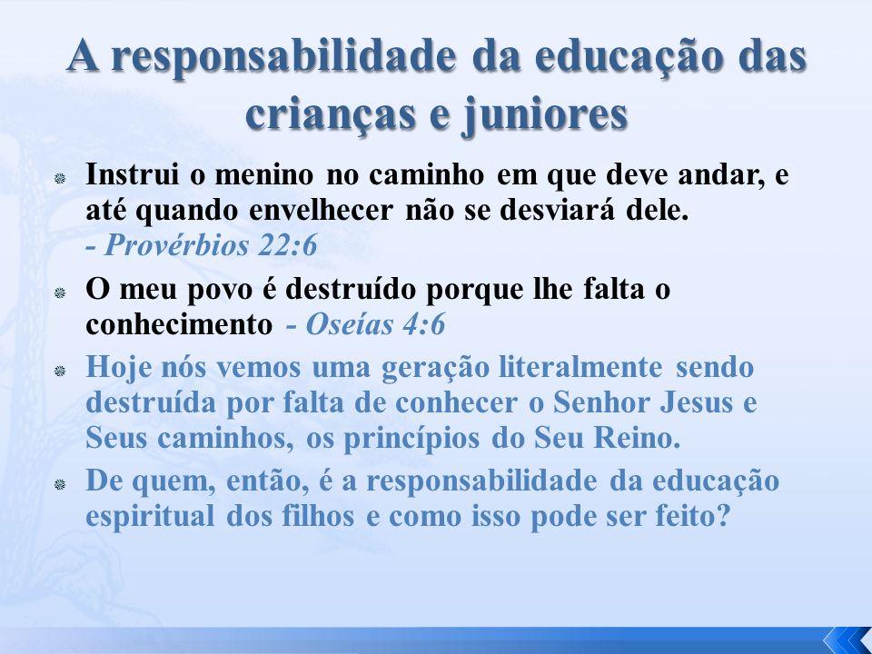 A Bíblia não fala muito sobre o ministério infantil - principalmente porque a responsabilidade para a formação dos filhos nos caminhos do Senhor é dos pais.
