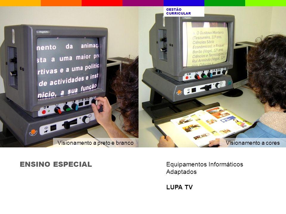 ENSINO ESPECIAL Equipamentos Informáticos Adaptados LUPA TV A ESCOLAQUEM SOMOSRESULTADOS ESCOLARES AVALIAÇÃO INTERNA GESTÃO CURRICULAR PROJETOSDESAFIO