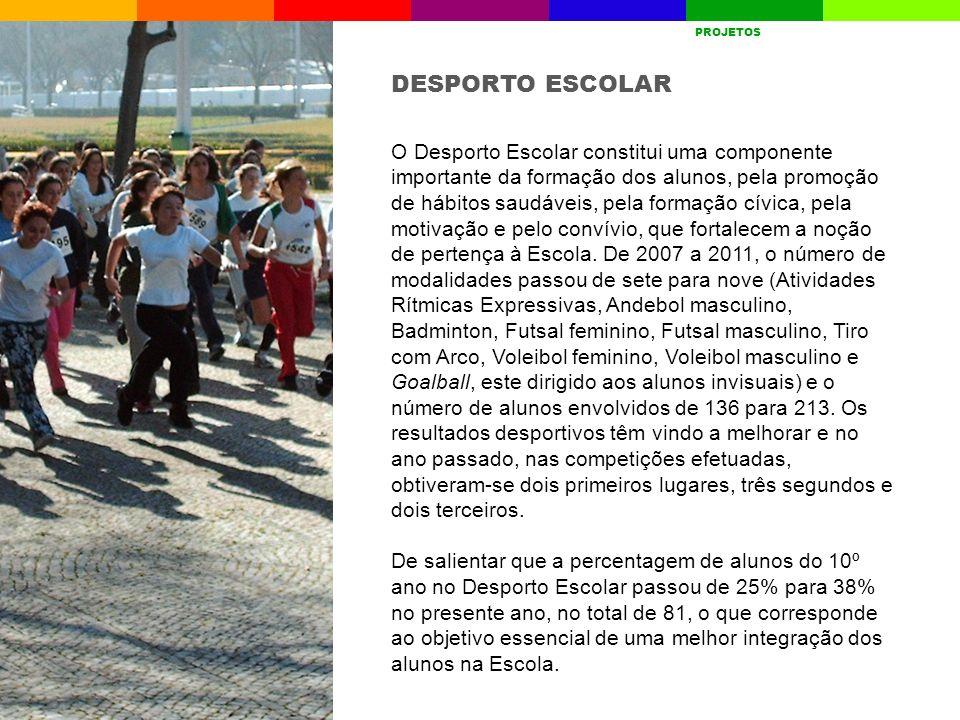 O Desporto Escolar constitui uma componente importante da formação dos alunos, pela promoção de hábitos saudáveis, pela formação cívica, pela motivaçã