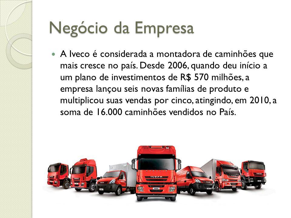 Negócio da Empresa A Iveco é considerada a montadora de caminhões que mais cresce no país. Desde 2006, quando deu início a um plano de investimentos d