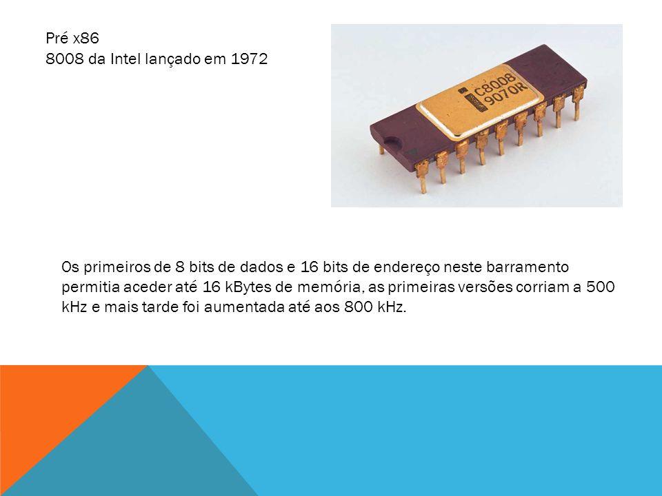Os primeiros de 8 bits de dados e 16 bits de endereço neste barramento permitia aceder até 16 kBytes de memória, as primeiras versões corriam a 500 kH