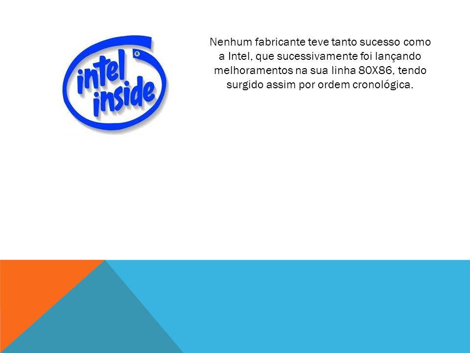 Pentium Dual-Core da Intel lançado em 2006 Transístores 167,000,000 Frequência do Processador: 1266 MHz a 2700 MHz Frequência do barramento: 533MHz a 800MHz 2MB de cache L2 Socket LGA775 Actuais - x86-64