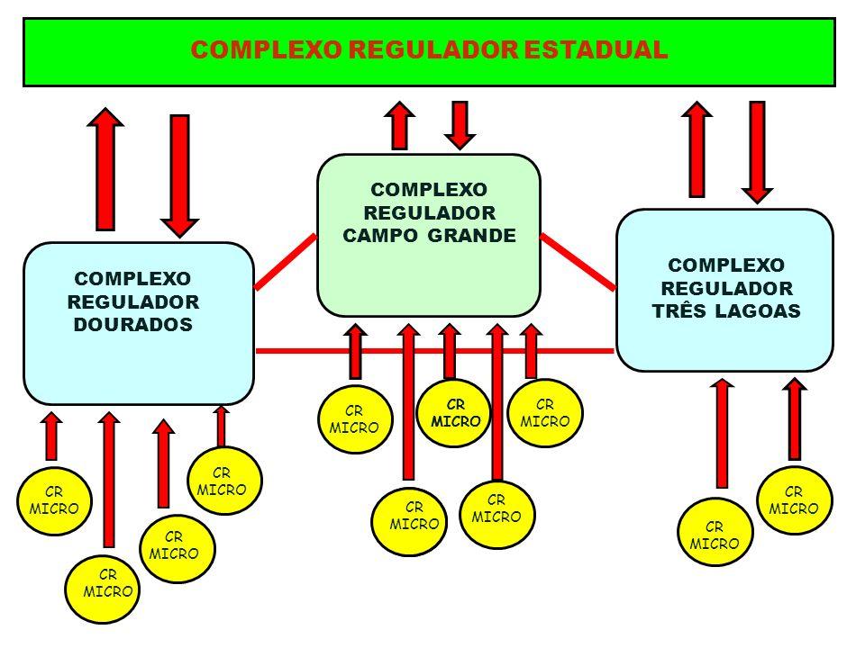 COMPLEXO REGULADOR ESTADUAL COMPLEXO REGULADOR DOURADOS COMPLEXO REGULADOR TRÊS LAGOAS COMPLEXO REGULADOR CAMPO GRANDE CR MICRO