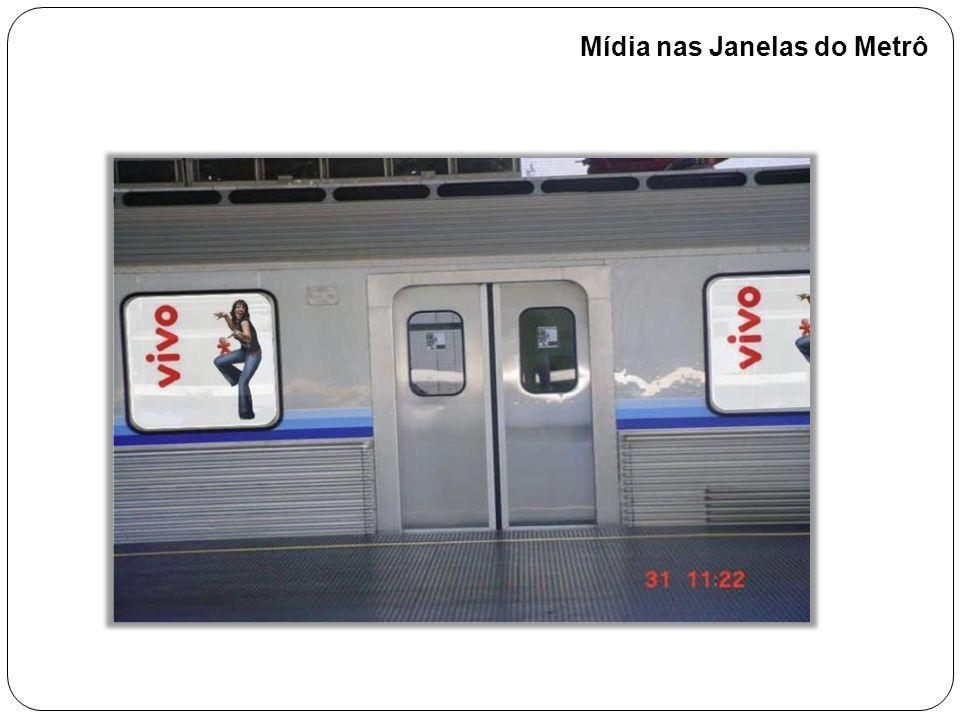 Mídia nas Janelas do Metrô
