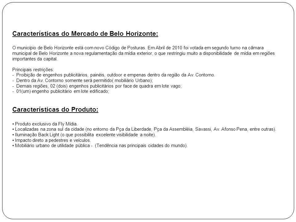 Características do Mercado de Belo Horizonte: O município de Belo Horizonte está com novo Código de Posturas. Em Abril de 2010 foi votada em segundo t