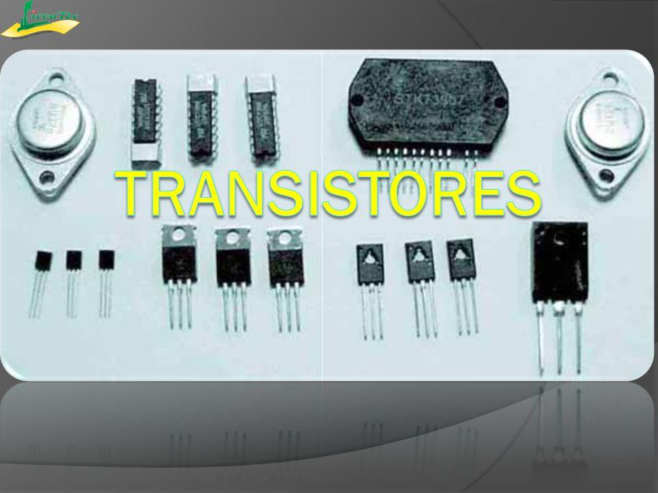 Os transistores são dispositivos que possuem duas uniões PN (a mesma dos diodos), capazes de controlar a passagem de uma corrente.