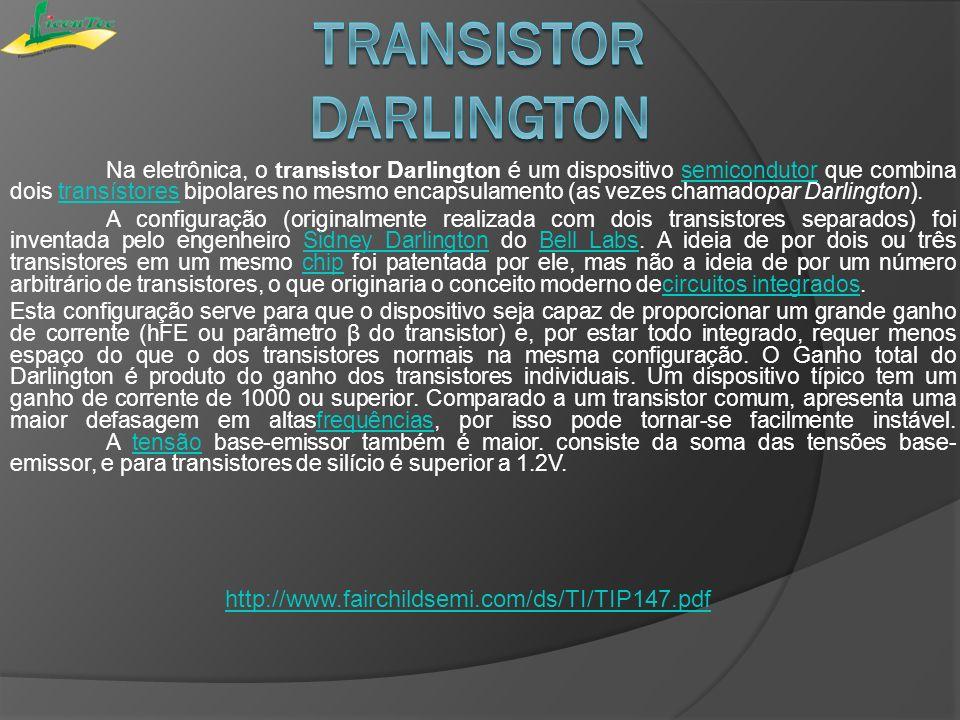 Na eletrônica, o transistor Darlington é um dispositivo semicondutor que combina dois transístores bipolares no mesmo encapsulamento (as vezes chamado