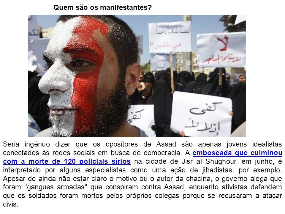 Quem são os manifestantes.