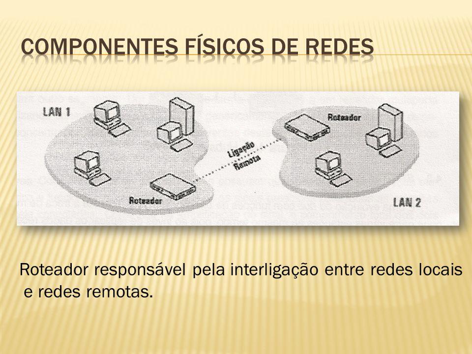 Roteador responsável pela interligação entre redes locais e redes remotas.