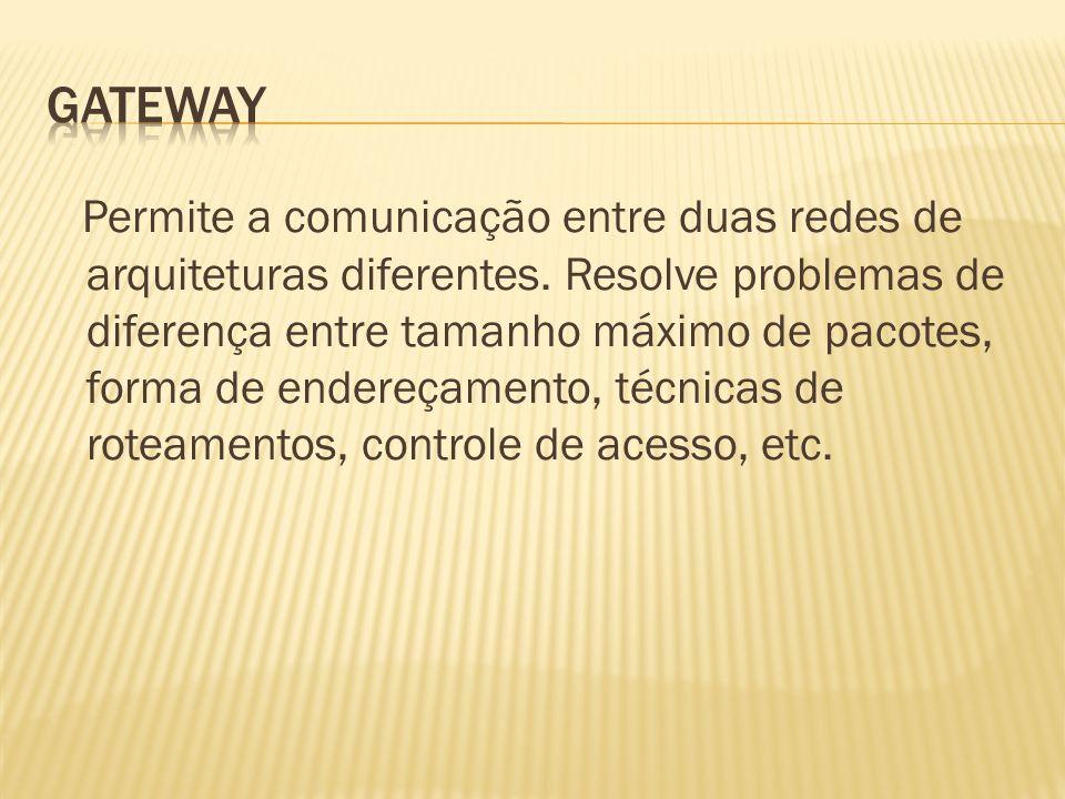 Permite a comunicação entre duas redes de arquiteturas diferentes.