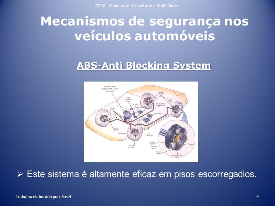 Mecanismos de segurança nos veículos automóveis Este sistema é altamente eficaz em pisos escorregadios. STC 6 - Modelos de Urbanismo e Mobilidade Trab