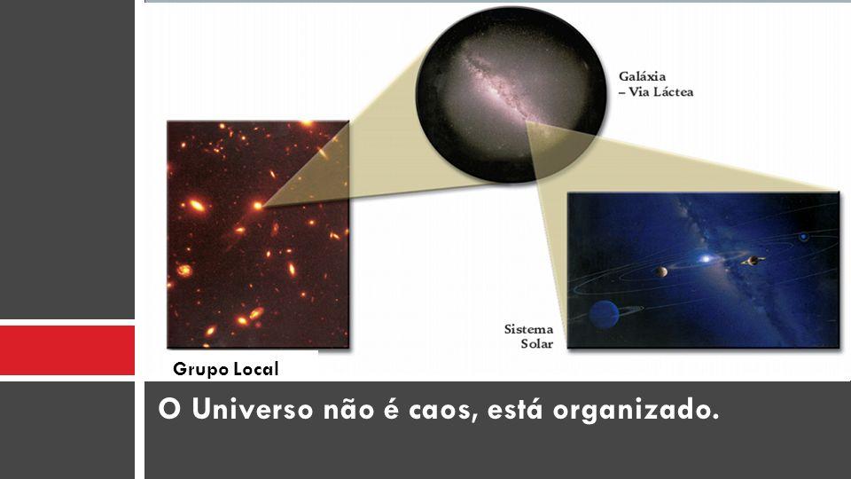 O Universo não é caos, está organizado. Grupo Local
