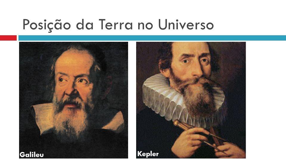 Posição da Terra no Universo Galileu Kepler