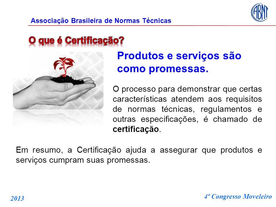 Produtos e serviços são como promessas. O processo para demonstrar que certas características atendem aos requisitos de normas técnicas, regulamentos