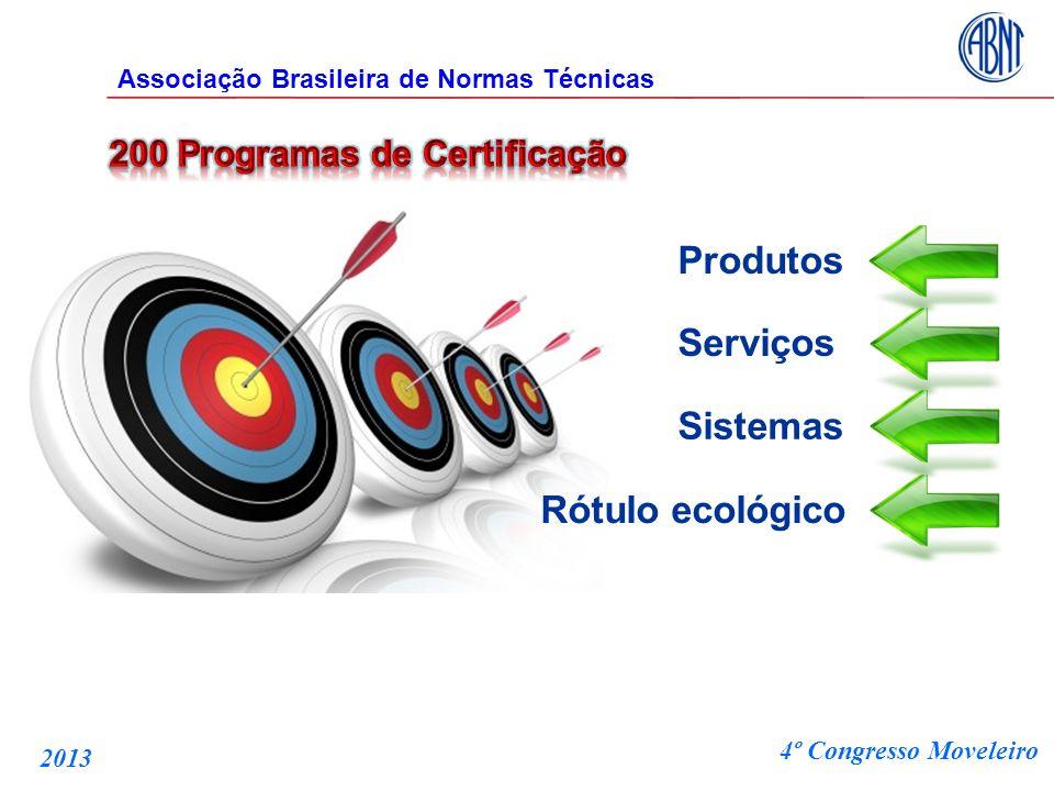 Produtos Serviços Sistemas Rótulo ecológico Associação Brasileira de Normas Técnicas 4º Congresso Moveleiro 2013