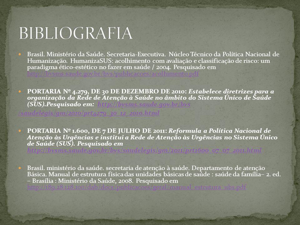 Brasil. Ministério da Saúde. Secretaria-Executiva. Núcleo Técnico da Política Nacional de Humanização. HumanizaSUS: acolhimento com avaliação e classi