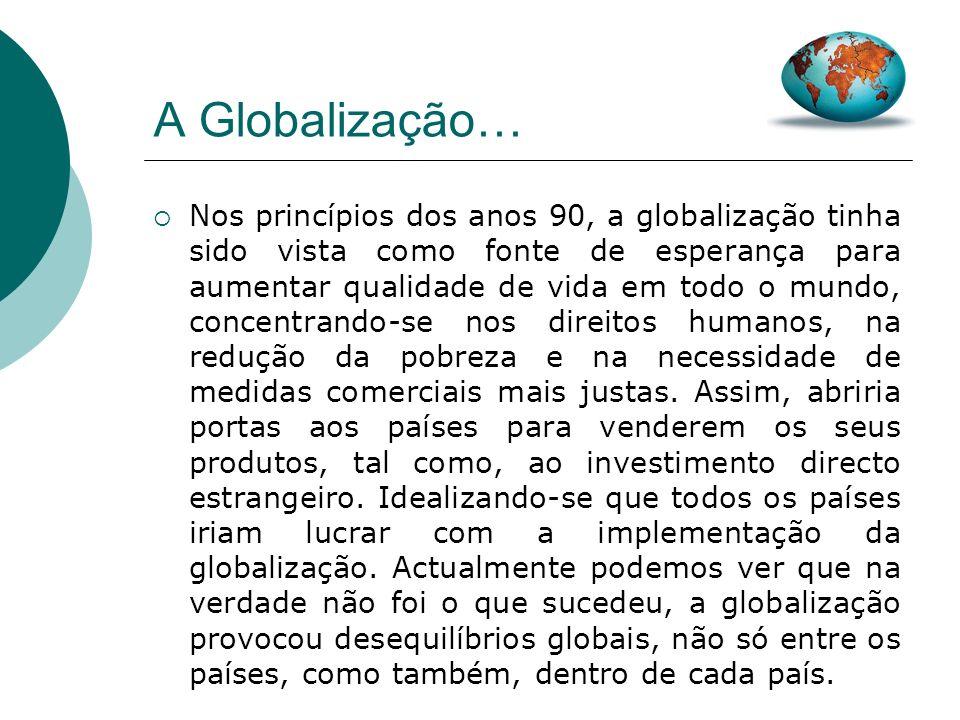 Introdução Com este trabalho pretendo retratar alguns dos limites apontados à Globalização.