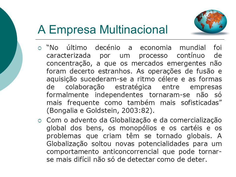 A Empresa Multinacional 2) Limitar o Poder das Empresas A Globalização tem vindo, de um modo geral, a facilitar a criação de grandes empresas, nomeada