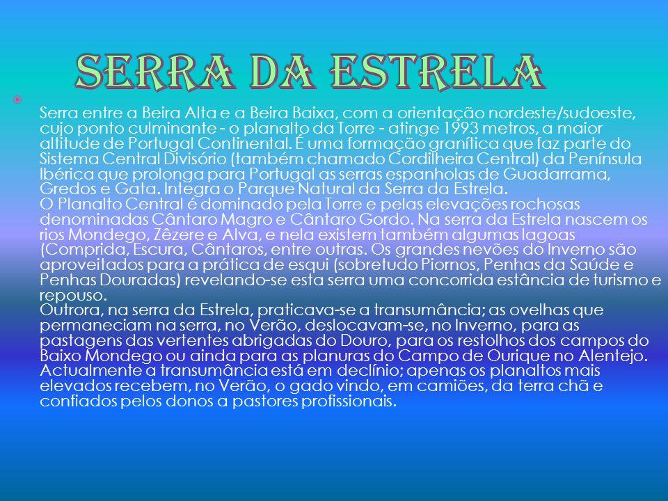 Serra entre a Beira Alta e a Beira Baixa, com a orientação nordeste/sudoeste, cujo ponto culminante - o planalto da Torre - atinge 1993 metros, a maio