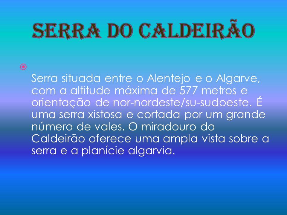 Serra situada entre o Alentejo e o Algarve, com a altitude máxima de 577 metros e orientação de nor-nordeste/su-sudoeste. É uma serra xistosa e cortad