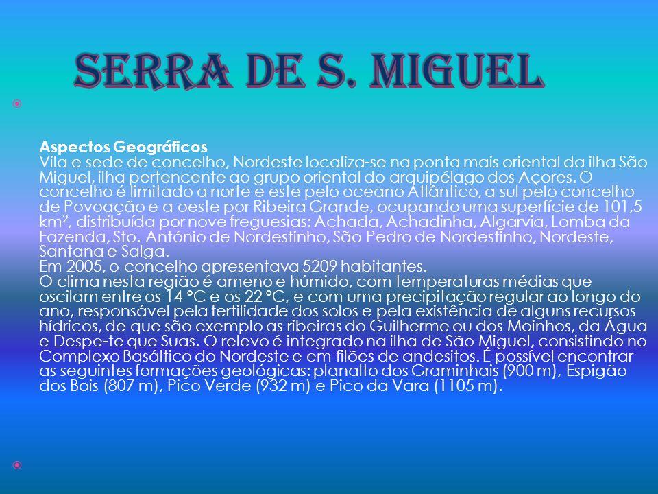 Aspectos Geográficos Vila e sede de concelho, Nordeste localiza-se na ponta mais oriental da ilha São Miguel, ilha pertencente ao grupo oriental do ar