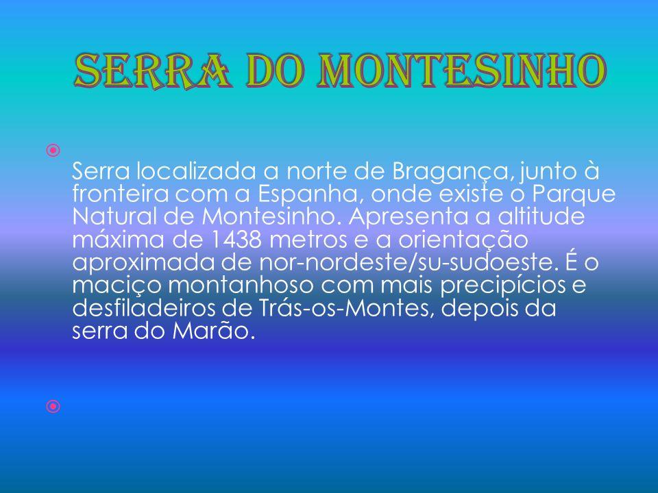 Serra localizada a norte de Bragança, junto à fronteira com a Espanha, onde existe o Parque Natural de Montesinho. Apresenta a altitude máxima de 1438