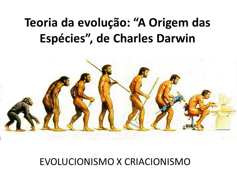 Teoria da evolução: A Origem das Espécies, de Charles Darwin EVOLUCIONISMO X CRIACIONISMO