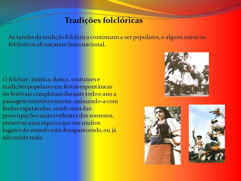 As tarefas da tradição folclórica continuam a ser populares, e alguns músicos folclóricos alcançaram fama nacional. O folclore, música, dança, costume