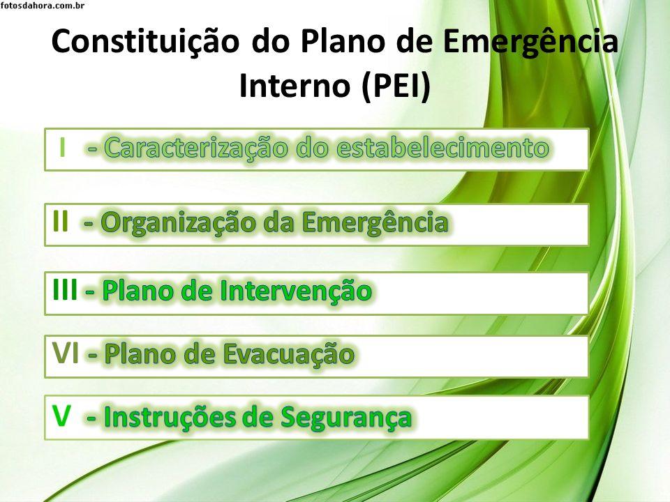 Constituição do Plano de Emergência Interno (PEI)