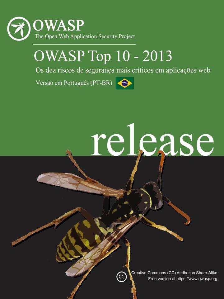BR Versão PT-BR Notas Esta versão do OWASP Top 10 foi desenvolvida como parte integrante da atividade conjunta dos capítulos brasileiro e português da OWASP, em prol da comunidade de programadores e da segurança das aplicações desenvolvidas nos países de língua portuguesa.