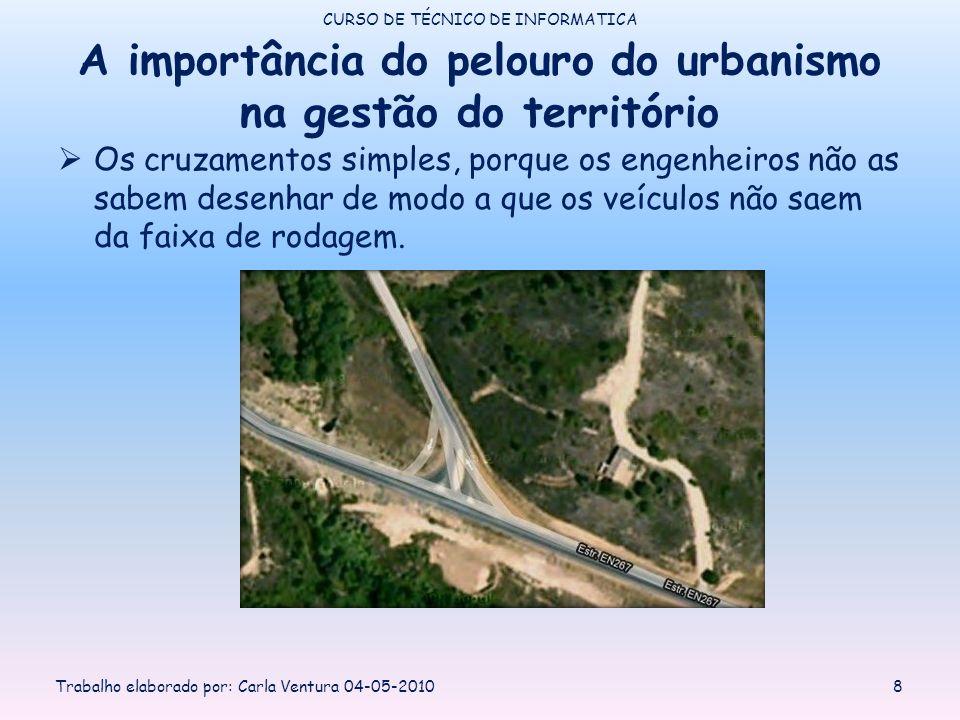 A importância do pelouro do urbanismo na gestão do território Os cruzamentos simples, porque os engenheiros não as sabem desenhar de modo a que os veí
